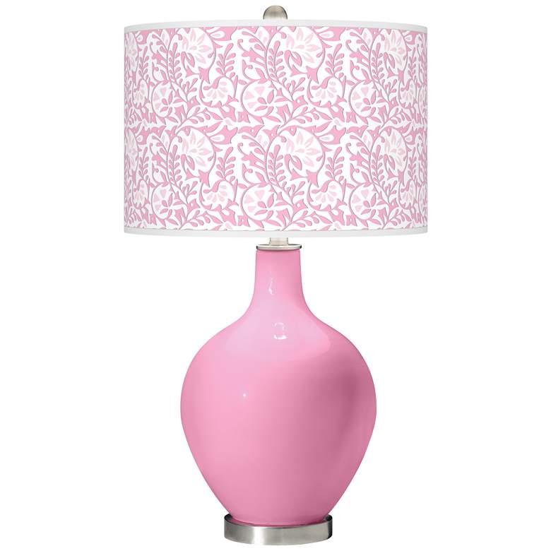 Pale Pink Gardenia Ovo Table Lamp