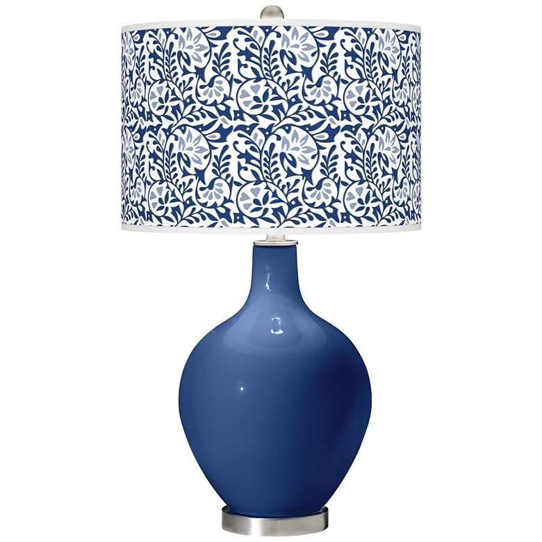 Monaco Blue Gardenia Ovo Table Lamp