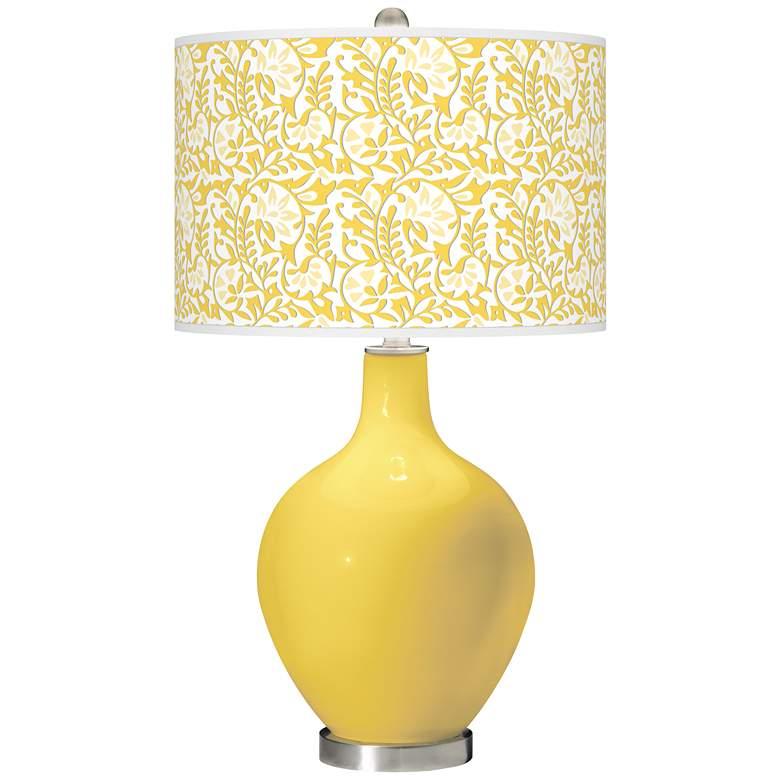 Lemon Zest Gardenia Ovo Table Lamp