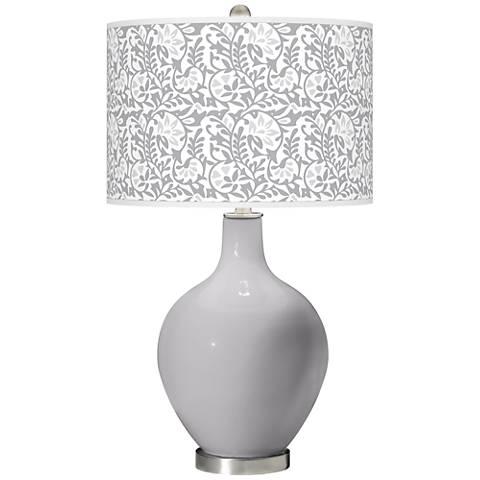 Swanky Gray Gardenia Ovo Table Lamp