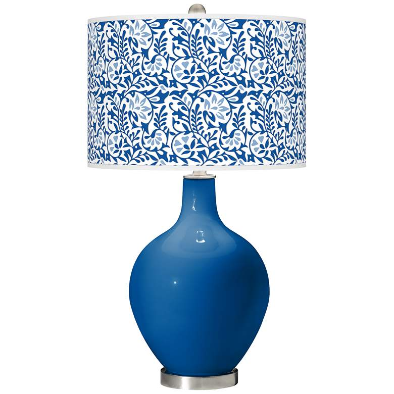 Hyper Blue Gardenia Ovo Table Lamp