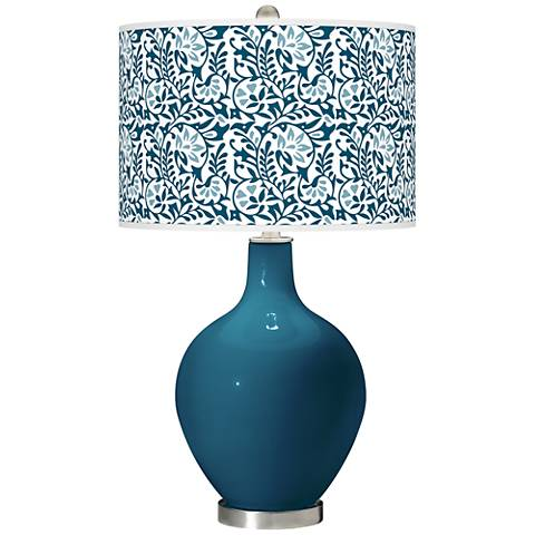 Oceanside Gardenia Ovo Table Lamp