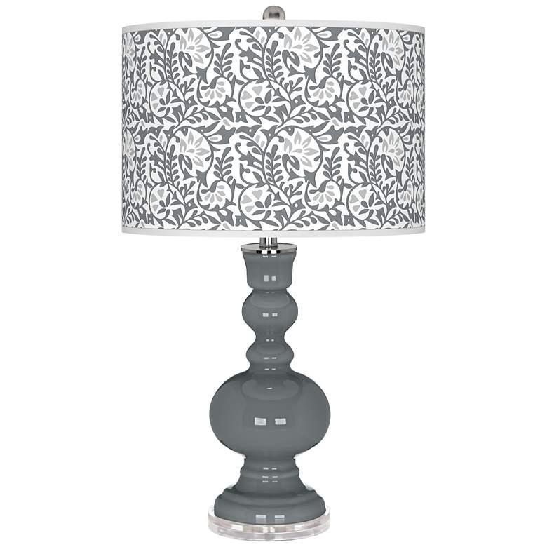 Software Gray Gardenia Apothecary Table Lamp