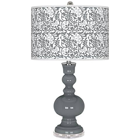 Software Gray Gardenia Apothecary Table Lamp