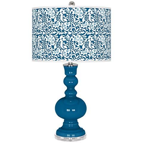 Mykonos Blue Gardenia Apothecary Table Lamp