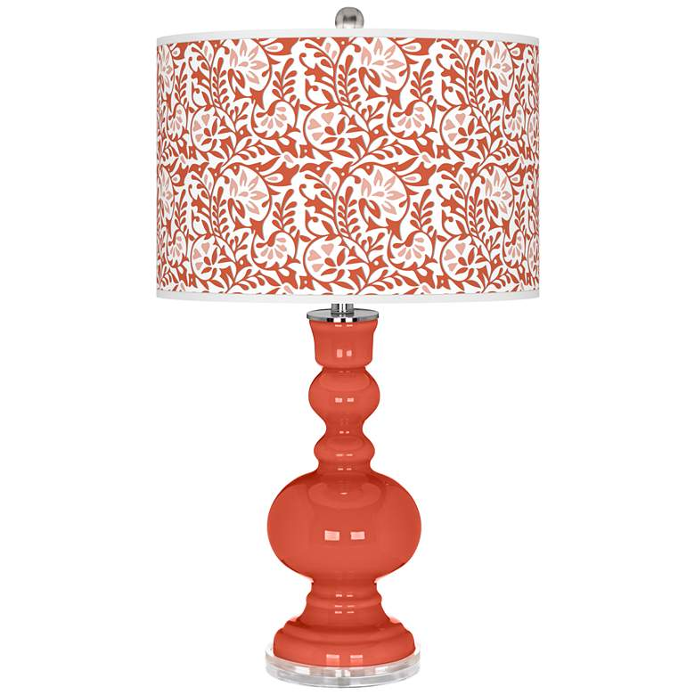 Koi Gardenia Apothecary Table Lamp by Color Plus