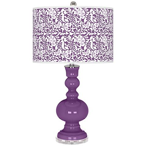 Passionate Purple Gardenia Apothecary Table Lamp