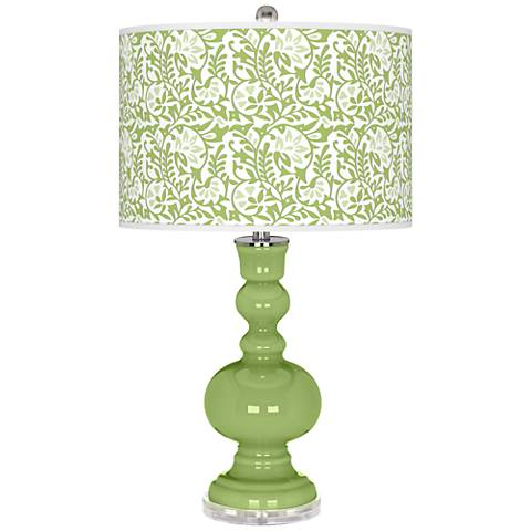 Lime Rickey Gardenia Apothecary Table Lamp