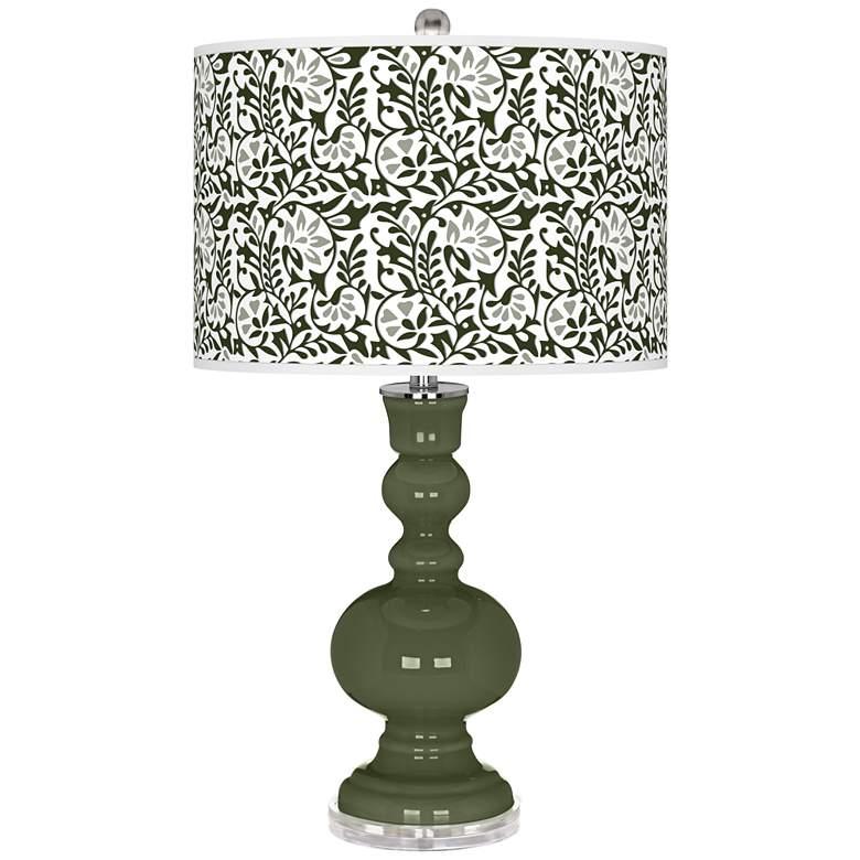 Secret Garden Gardenia Apothecary Table Lamp