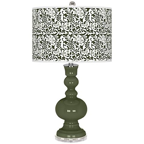 Secret Garden Gardenia Apothecary Table Lamp