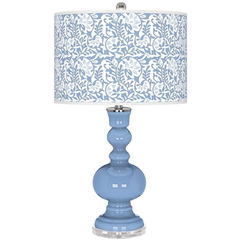 Placid Blue Gardenia Apothecary Table Lamp