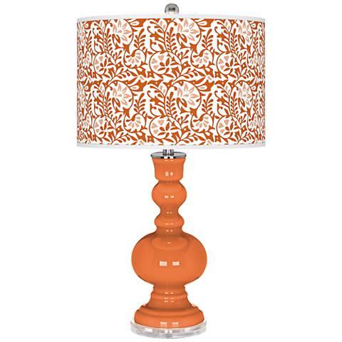 Celosia Orange Gardenia Apothecary Table Lamp
