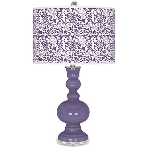 Purple Haze Gardenia Apothecary Table Lamp