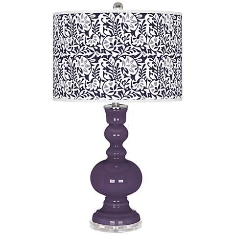 Quixotic Plum Gardenia Apothecary Table Lamp