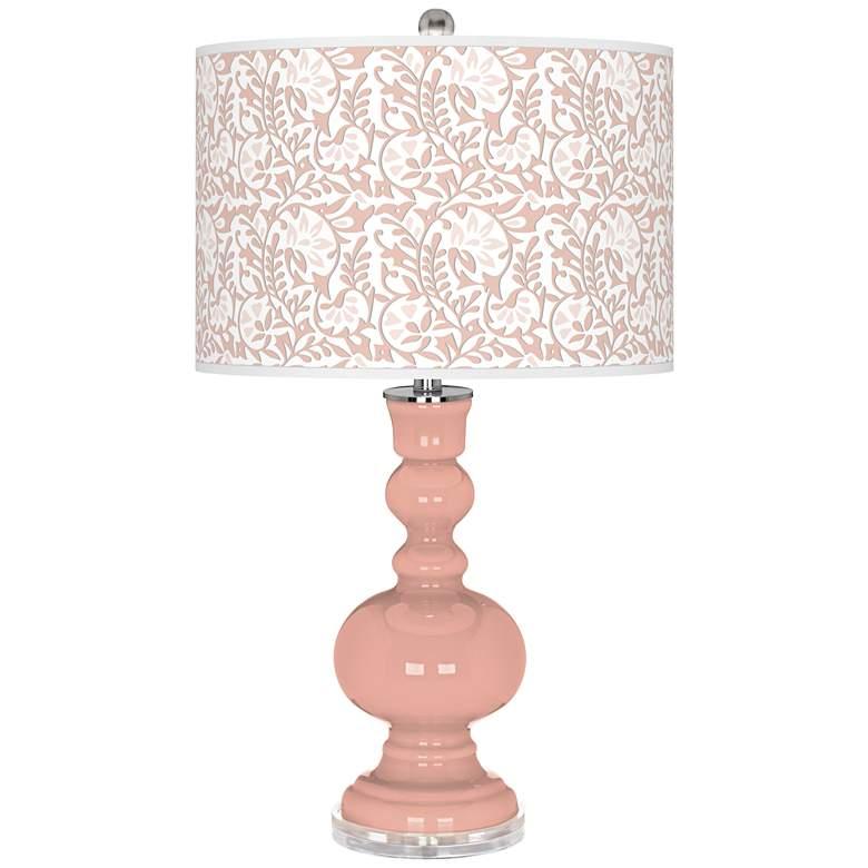 Mellow Coral Gardenia Apothecary Table Lamp