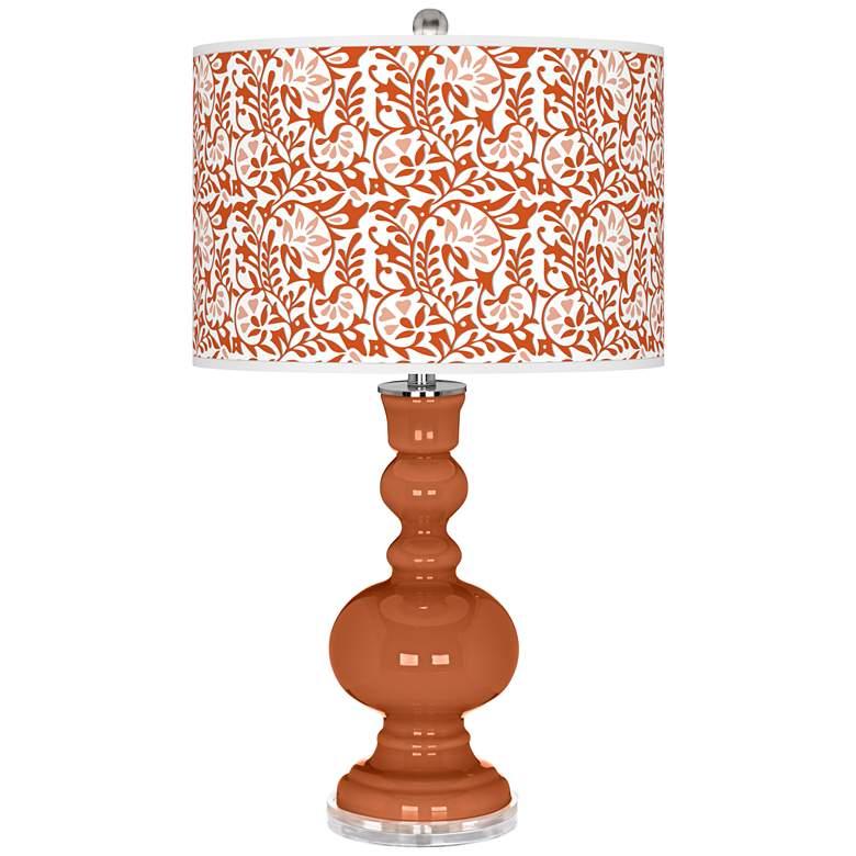 Robust Orange Gardenia Apothecary Table Lamp