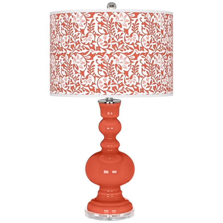 Daring Orange Gardenia Apothecary Table Lamp