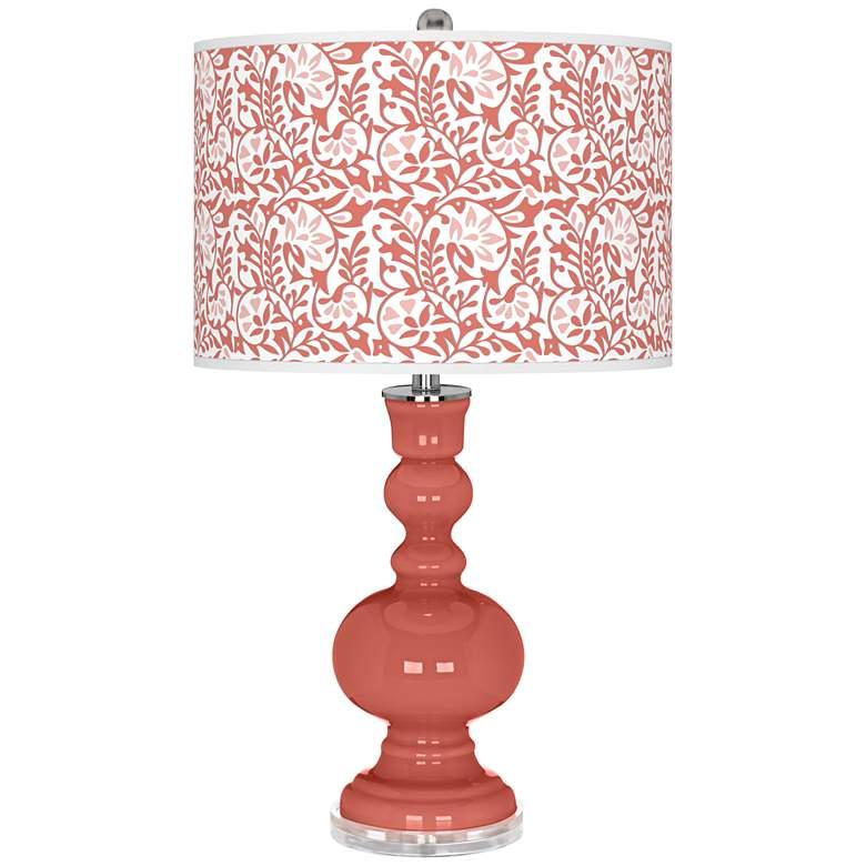 Coral Reef Gardenia Apothecary Table Lamp