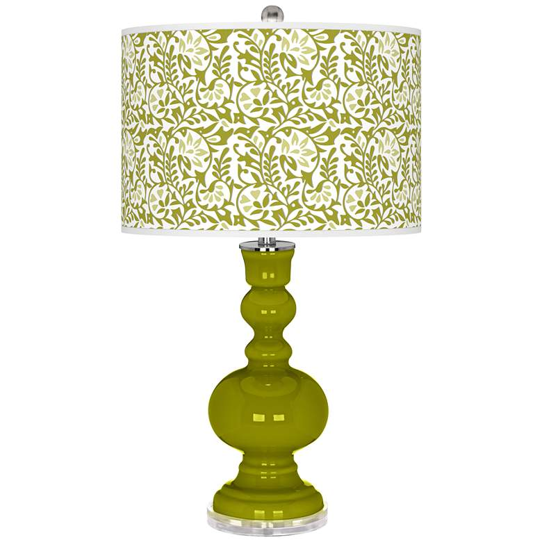 Olive Green Gardenia Apothecary Table Lamp