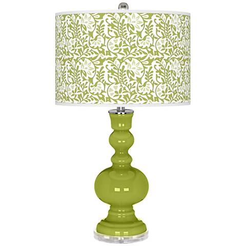 Parakeet Gardenia Apothecary Table Lamp
