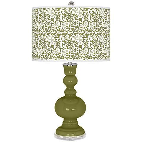 Rural Green Gardenia Apothecary Table Lamp