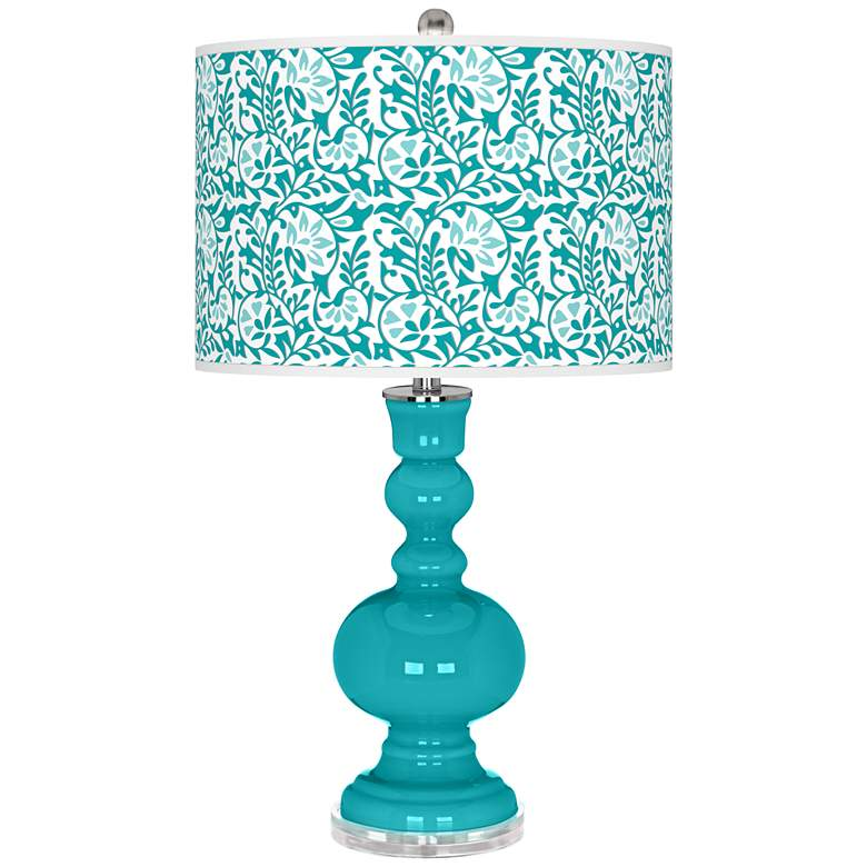 Surfer Blue Gardenia Apothecary Table Lamp