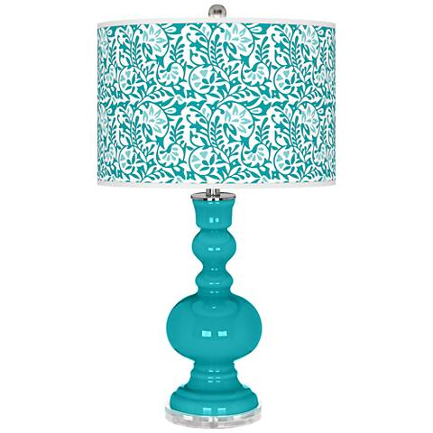 Surfer Blue Gardenia Apothecary Table Lamp