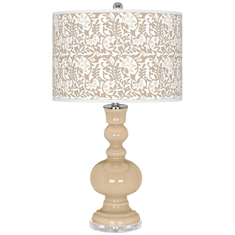 Colonial Tan Gardenia Apothecary Table Lamp