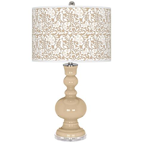 Colonial Tan Gardenia Apothecary Table Lamp
