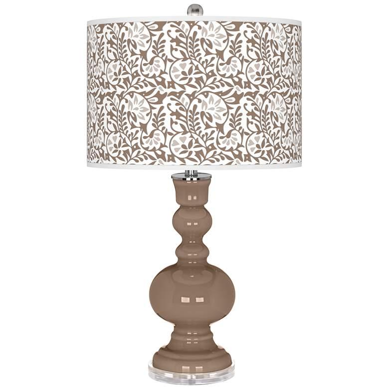 Mocha Gardenia Apothecary Table Lamp