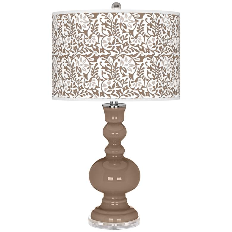 Mocha Gardenia Apothecary Table Lamp