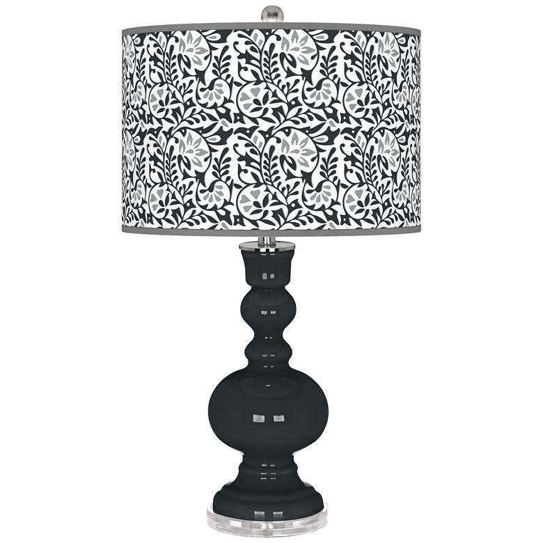 Black of Night Gardenia Apothecary Table Lamp