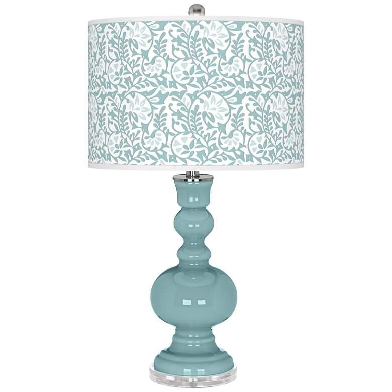 Raindrop Gardenia Apothecary Table Lamp