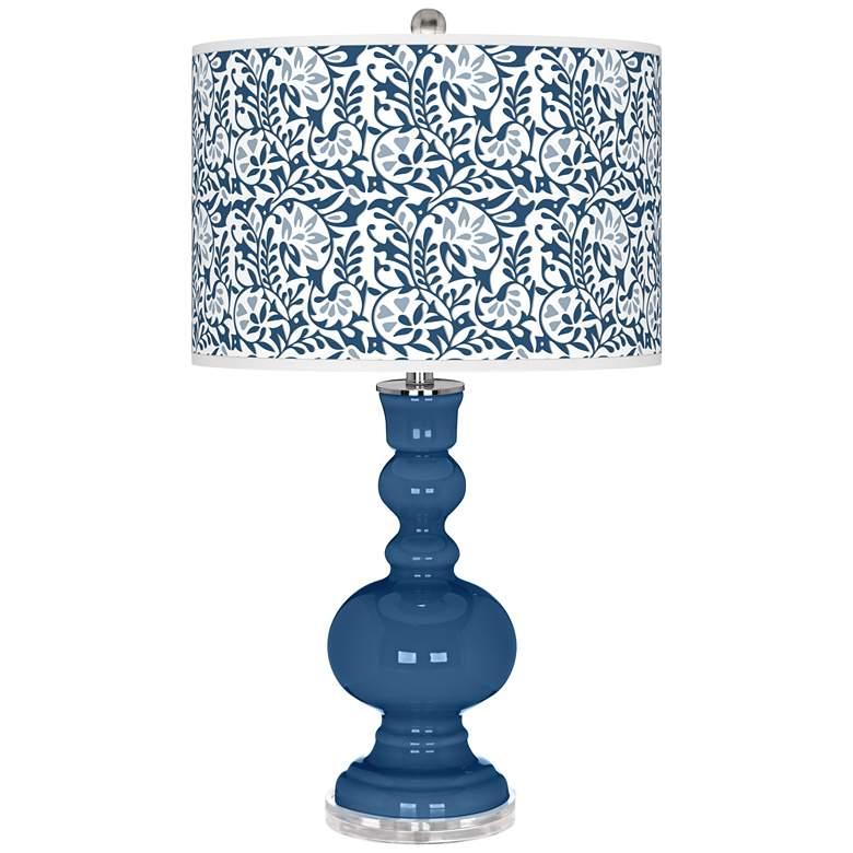 Regatta Blue Gardenia Apothecary Table Lamp