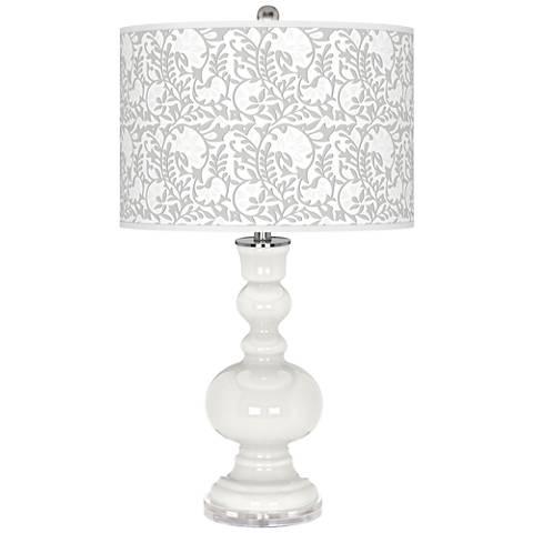 Winter White Gardenia Apothecary Table Lamp