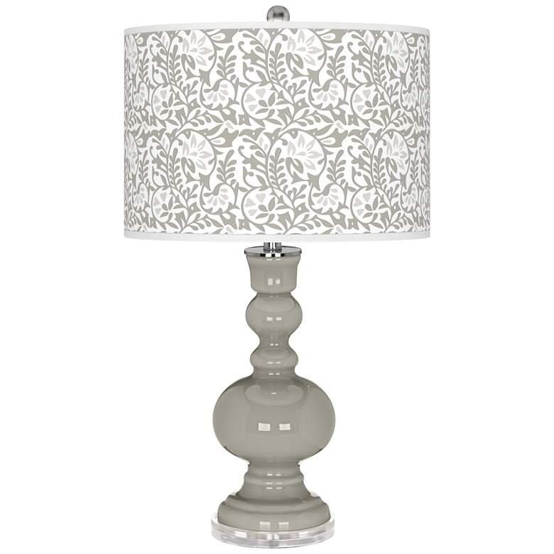 Requisite Gray Gardenia Apothecary Table Lamp