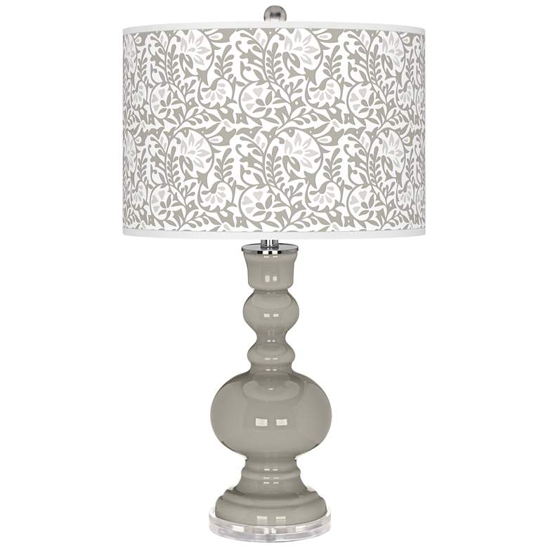 Requisite Gray Gardenia Apothecary Table Lamp