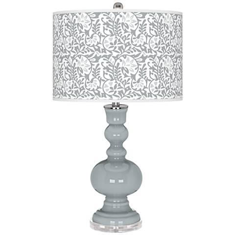 Uncertain Gray Gardenia Apothecary Table Lamp