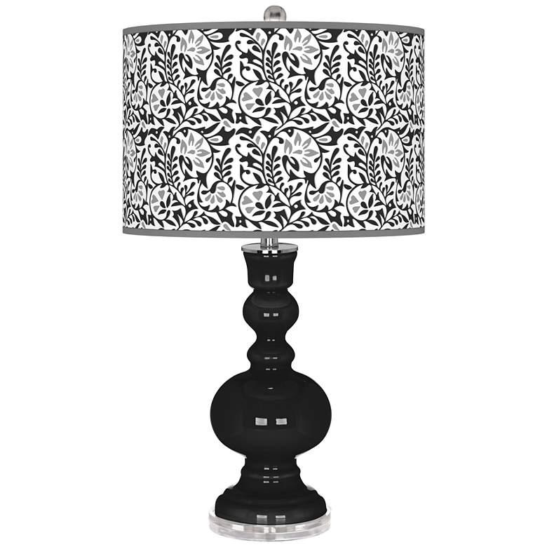 Tricorn Black Gardenia Apothecary Table Lamp