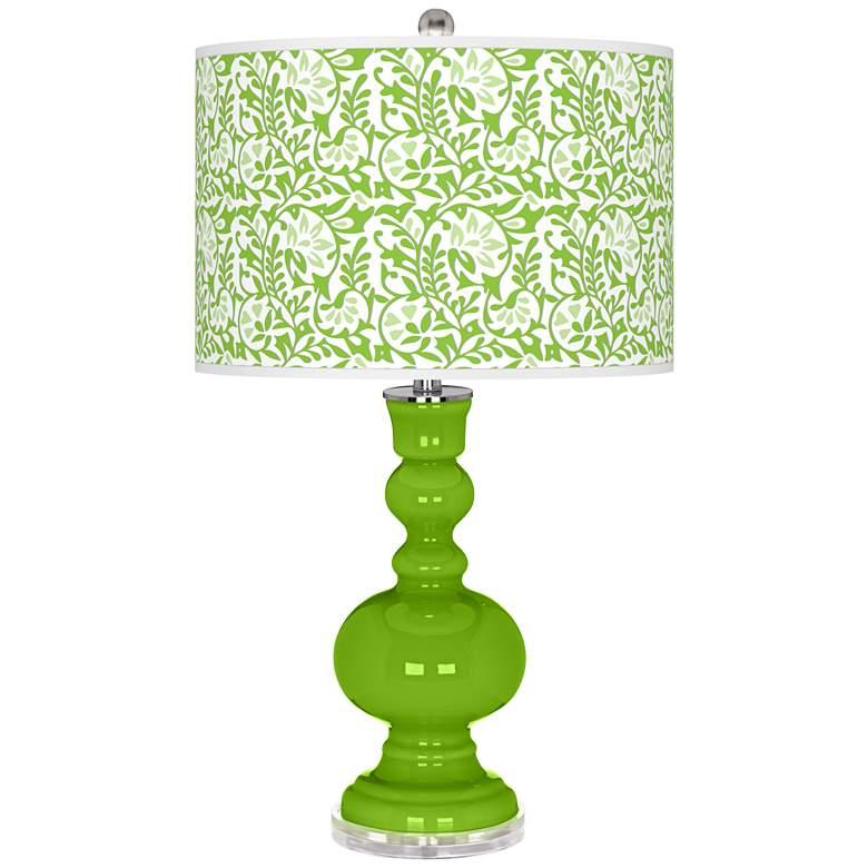 Neon Green Gardenia Apothecary Table Lamp