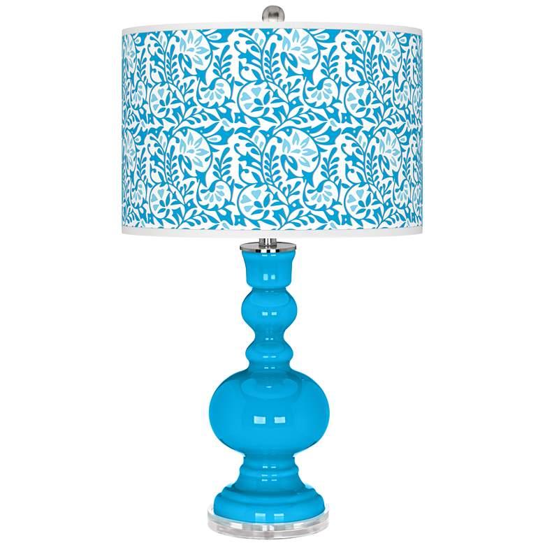 Sky Blue Gardenia Apothecary Table Lamp