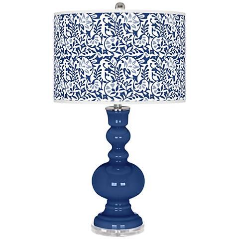 Monaco Blue Gardenia Apothecary Table Lamp