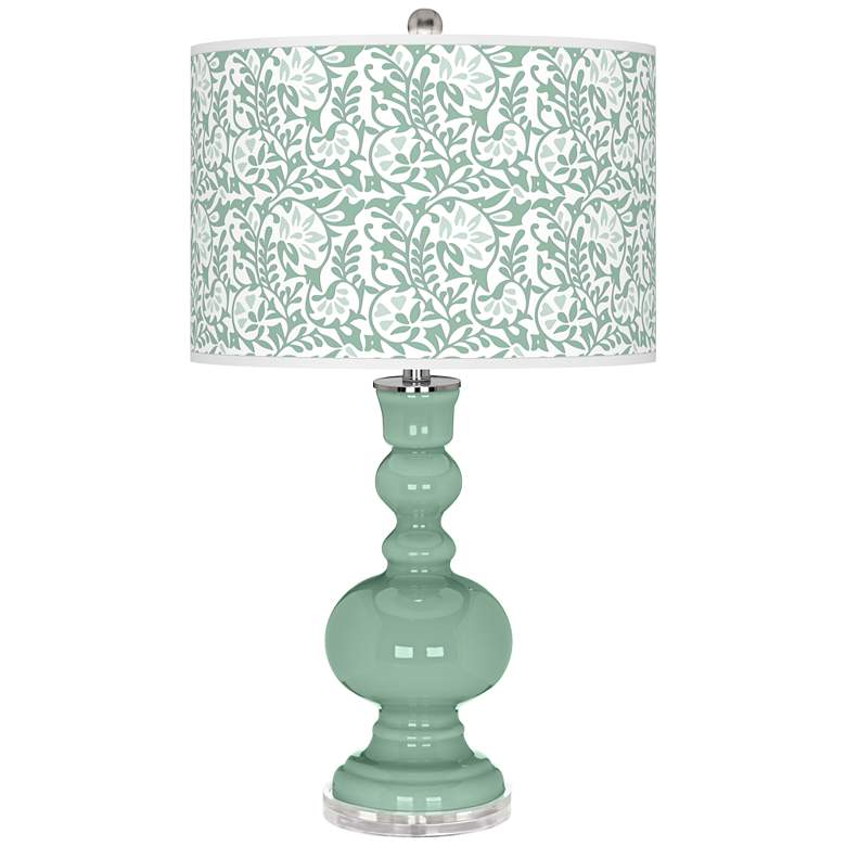 Grayed Jade Gardenia Apothecary Table Lamp