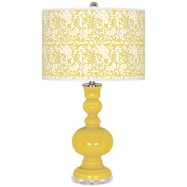 Lemon Zest Gardenia Apothecary Table Lamp