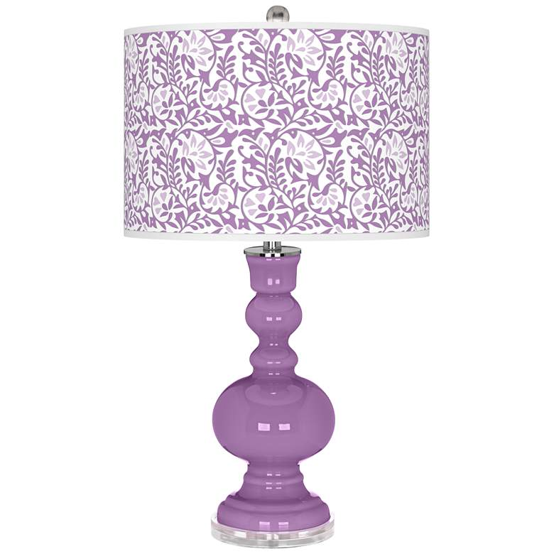 African Violet Gardenia Apothecary Table Lamp