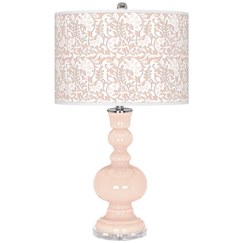 Linen Gardenia Apothecary Table Lamp