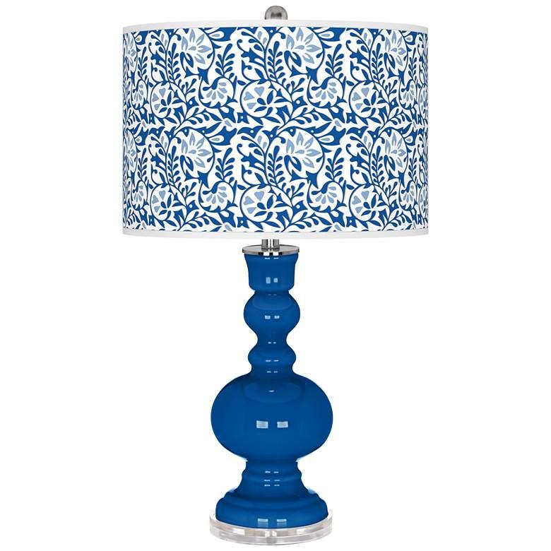 Hyper Blue Gardenia Apothecary Table Lamp