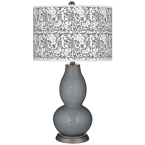 Software Gray Gardenia Double Gourd Table Lamp