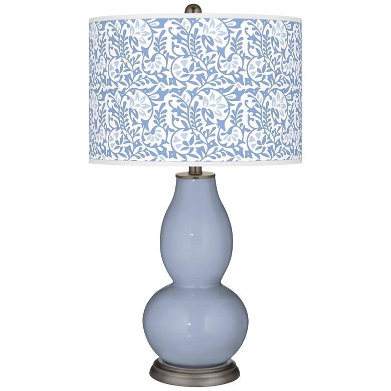 Blue Sky Gardenia Double Gourd Table Lamp