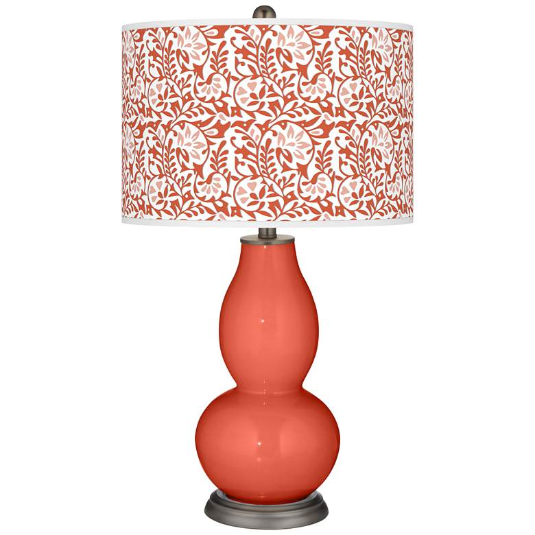 Koi Gardenia Double Gourd Table Lamp by Color Plus